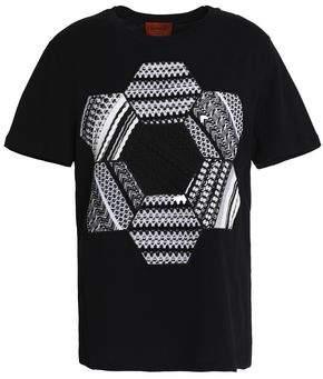Missoni Crochet-Paneled Cotton-Jersey T-Shirt