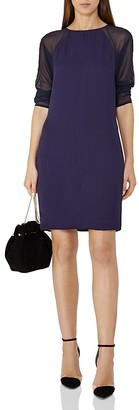 REISS Dalston Sheer Sleeve Dress $320 thestylecure.com