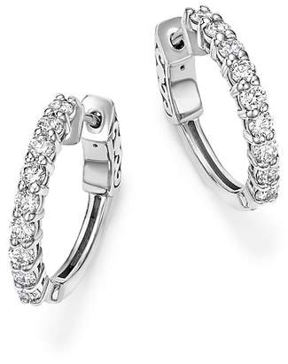 Bloomingdale's Diamond Hoop Earrings in 14K White Gold, .75 ct. t.w. - 100% Exclusive