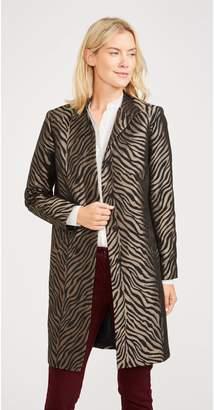 J.Mclaughlin Fairmont Coat in Zebra Jacquard