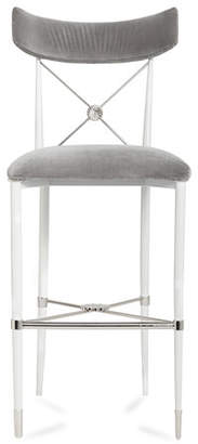Jonathan Adler Rider Counter Stool, Gray