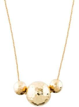 14K Ball Pendant Necklace