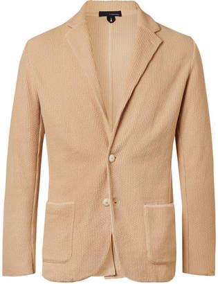 Lardini Beige Slim-fit Textured-cotton Blazer - Beige