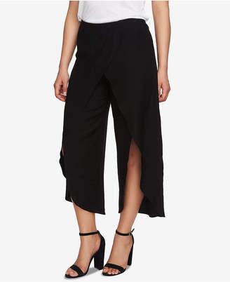 CeCe Cropped Split-Leg Wrap Pants