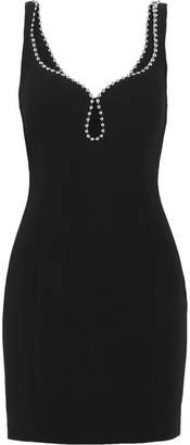 Alexander Wang Embellished Crepe Mini Dress - Black