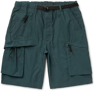 Nike Acg Logo-embroidered Ripstop Cargo Shorts - Teal