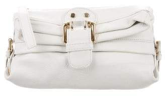 Etro Leather Buckle-Embellished Clutch