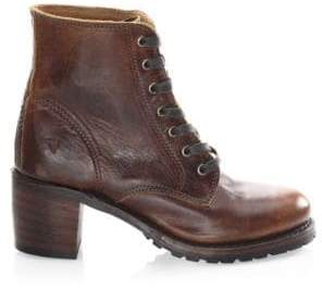 Frye Sabrina Leather Booties