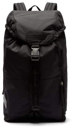 d03d7179d7b2 Stella McCartney Logo Embroidered Drawstring Nylon Backpack - Mens - Black