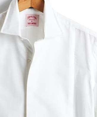 Hamilton Made in the USA + Todd Snyder White Pique Tuxedo Shirt