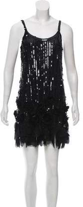 Anna Sui Embellished Mini Dress