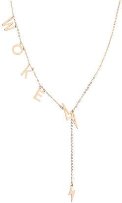 "ADORNIA Woke"" Slide Through Lariat Necklace"