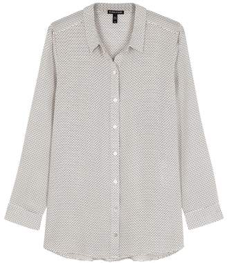 Eileen Fisher Printed Silk Crepe De Chine Shirt