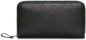 Burberry Perforated Leather Ziparound Wallet