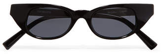 Le Specs Adam Selman The Breaker Cat-eye Acetate Sunglasses - Black