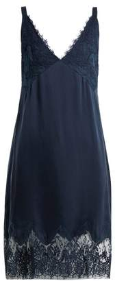 Icons Art Marigold Silk Slip Dress - Womens - Navy