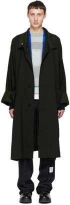 Issey Miyake Reversible Black Wool Slub Coat