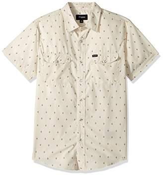 Brixton Men's Wayne Standard Fit Short Sleeve Woven Shirt
