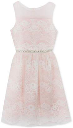Rare Editions Big Girls Plus Embellished Lace Dress