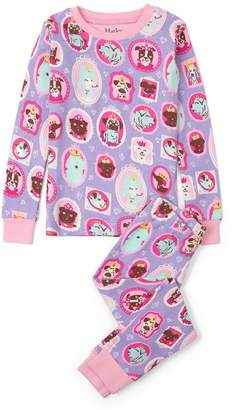 Hatley Girl's Pup Portraits Pajama Set