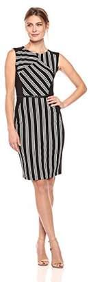 Lark & Ro Women's Sleeveless Sheath Dress with Belt