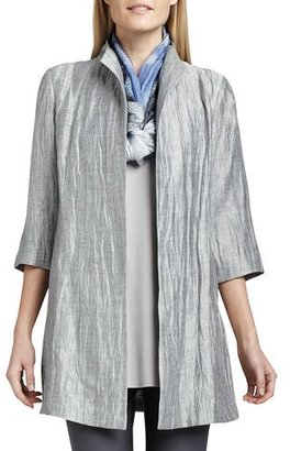 Eileen Fisher Washable Crinkle Sheen Jacket, Petite $318 thestylecure.com