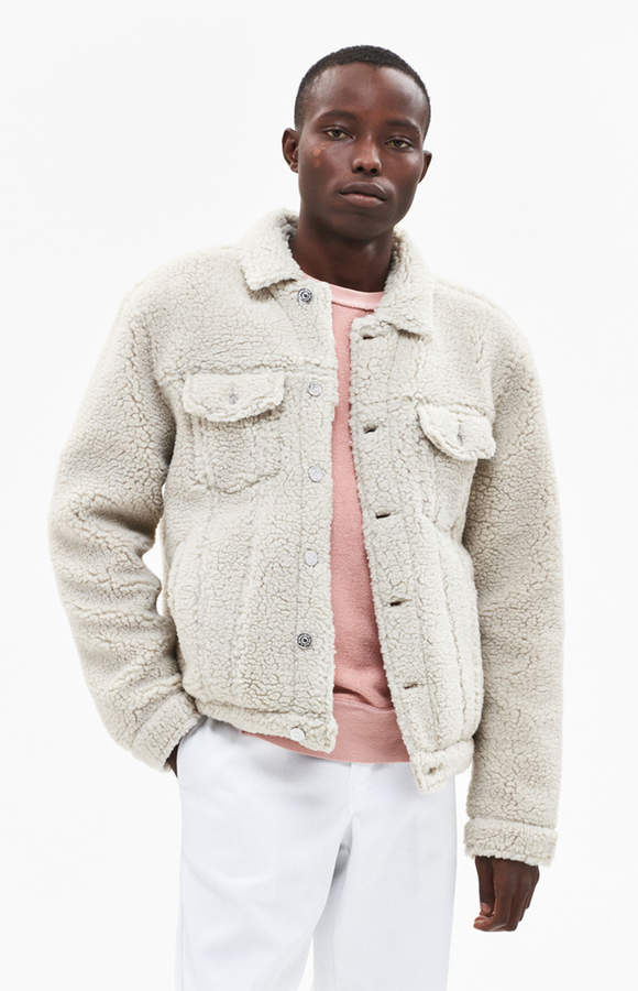 Pacsun Sherpa Classic Fit Trucker Jacket