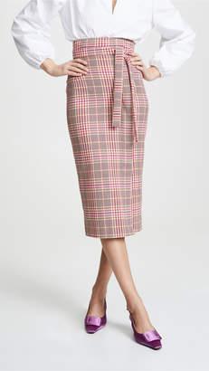 Stella Jean Plaid Tie Waist Skirt