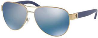 Tory Burch Logo Aviator Sunglasses