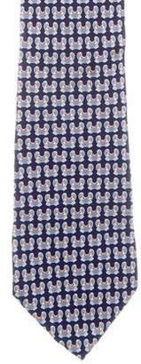 Loewe El Mar Silk Crab Print Tie