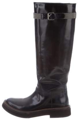 Brunello Cucinelli Monili-Embellished Knee-High Boots