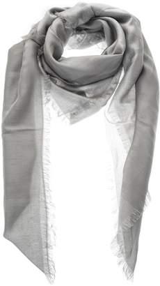 Emporio Armani Grey Fringed Headscarf