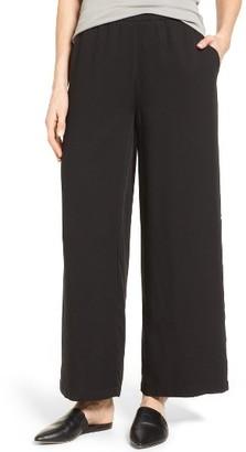 Women's Eileen Fisher Wide Leg Tencel Pants $198 thestylecure.com