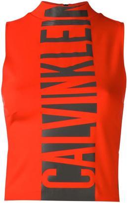 Calvin Klein Jeans logo print tank top $59.37 thestylecure.com