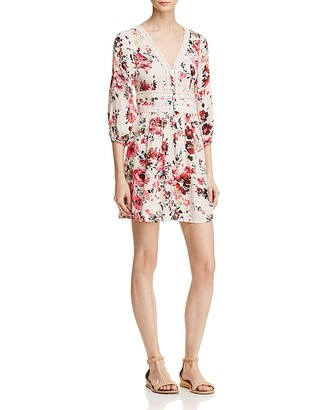 En Créme Long Sleeve Floral Dress - 100% Exclusive $68 thestylecure.com