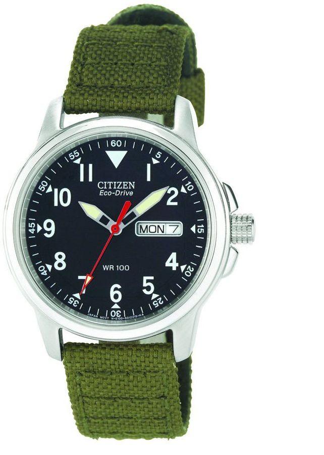 Citizen Men's Eco-Drive Green Nylon Strap Watch
