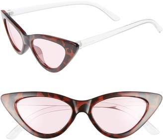 Sam Edelman 55mm Extreme Cat Eye Sunglasses