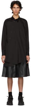 Comme des Garcons Black Broad Asymmetric Shirt