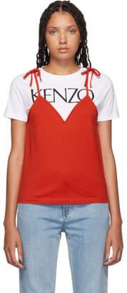 Kenzo Red Mini Camisole T-Shirt