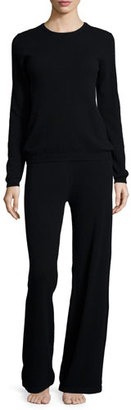 Neiman Marcus Cashmere Collection Cashmere Sweater & Pant Lounge Set $450 thestylecure.com