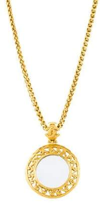 Chanel CC Mirror Pendant Necklace