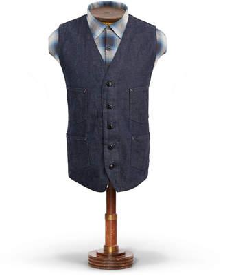 Ralph Lauren Cotton-Linen-Denim Vest