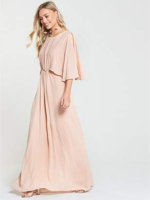 Wallis Hotfix Maxi Dress - Nude