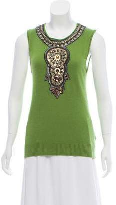 Tory Burch Cashmere Sleeveless Top