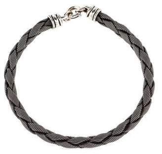 Kieselstein-Cord Mesh Chain Necklace