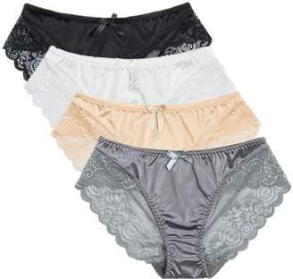 e731de38714d Colorful Star 4 Pack Women's Sexy Satin Panties ...