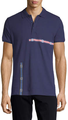 Fendi Stripe Detail Polo Shirt