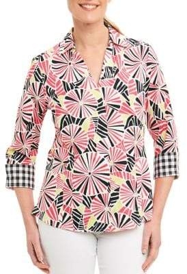 Foxcroft Solid Cotton Sleeveless Shirt