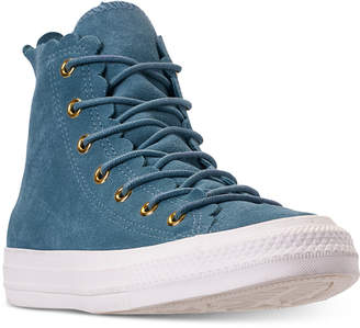 178d6238e27a Converse Women Chuck Taylor All Star High Top Frilly Thrills Casual Sneakers  from Finish Line