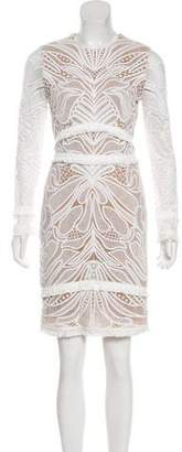 Alexis Fringe-Trimmed Crocheted Dress